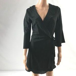Outrageous Fortune Women's Wrap Dress Black Size 6